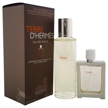 Set CADOU Terre D`Hermes Eau Tres Fraiches, barbati: apa de toaleta 125 ml + apa de toaleta 30 ml [0]