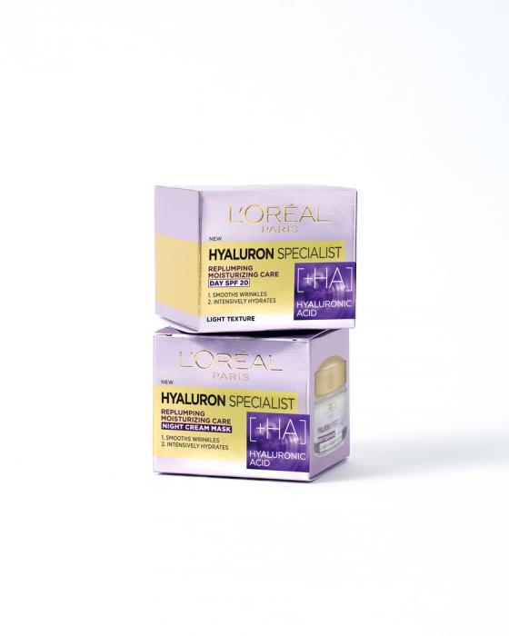 Set Hyaluron Specialist Crema de zi + Crema de noapte antirid hidratanta, 50 ml [4]