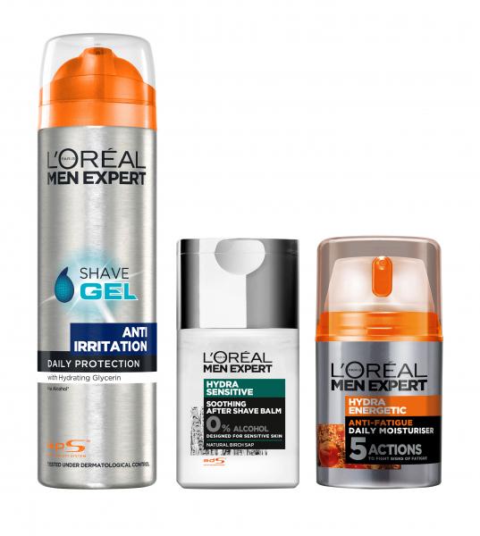 Set L'Oreal Paris Men Expert Gel de ras anti-iritatii, 200 ml + Lotiune after-shave Hydra Sensitive, 125 ml + Crema revitalizanta de zi Hydra Energetic, 50 ml [0]