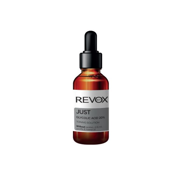 Solutie tonica Revox Acid Glycolic 20% Potrivit pentru a exfolia si regenera tenul, 30ml [0]