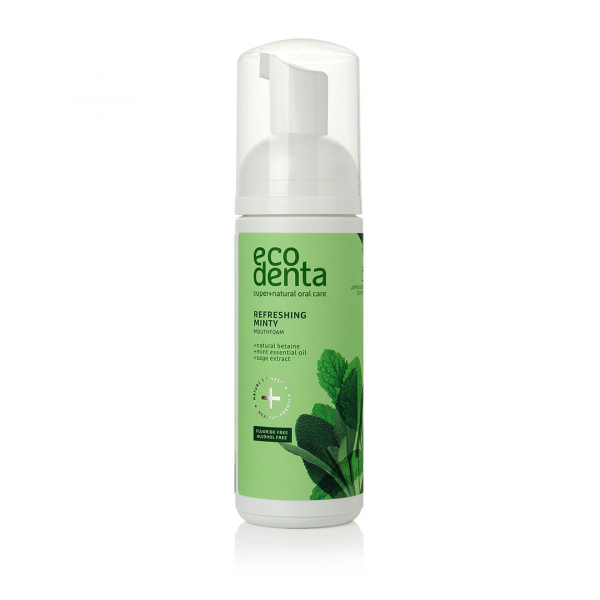 Spuma de gura cu efect racoritor cu ulei de menta si betaina naturala Ecodenta 150ml 0