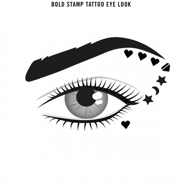 Tus tip stampila Rimmel INK ME, 001 BLACK/HEART, 0.8 ml 6