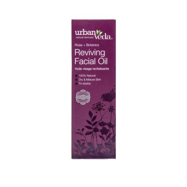 Ulei facial cu ulei de trandafir de Damasc organic   ten matur Reviving   Urban Veda 30 ml [2]