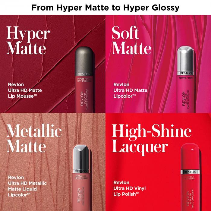 Ruj lichid mat REVLON Ultra HD Matte Metallic™, No.705 Shine, 5.9 ml [1]