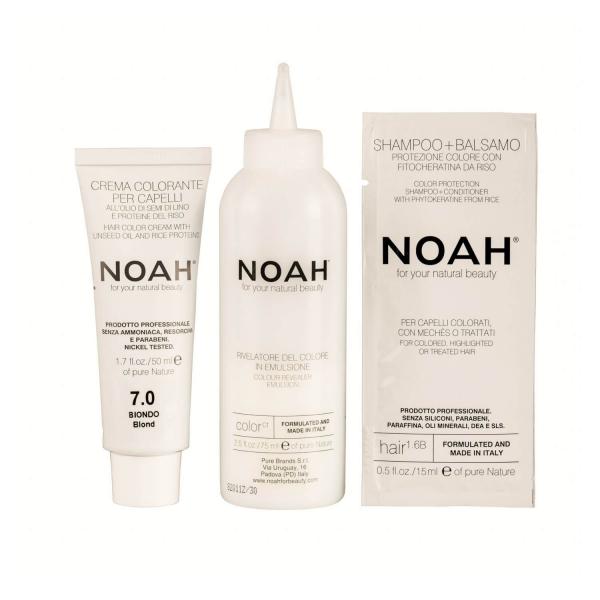 Vopsea de par naturala Blond 7.0 Noah 140 ml 1