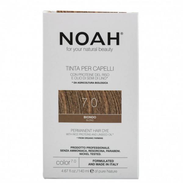 Vopsea de par naturala Blond 7.0 Noah 140 ml 0