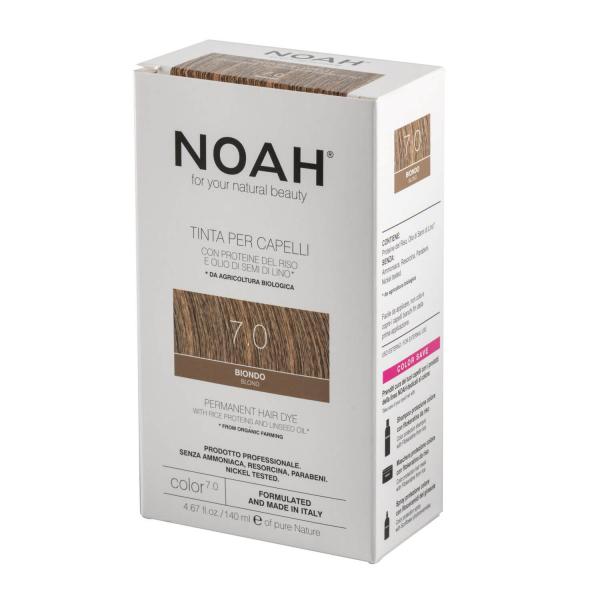 Vopsea de par naturala Blond 7.0 Noah 140 ml 2