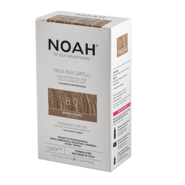 Vopsea de par naturala Blond deschis8.0 Noah 140 ml 2