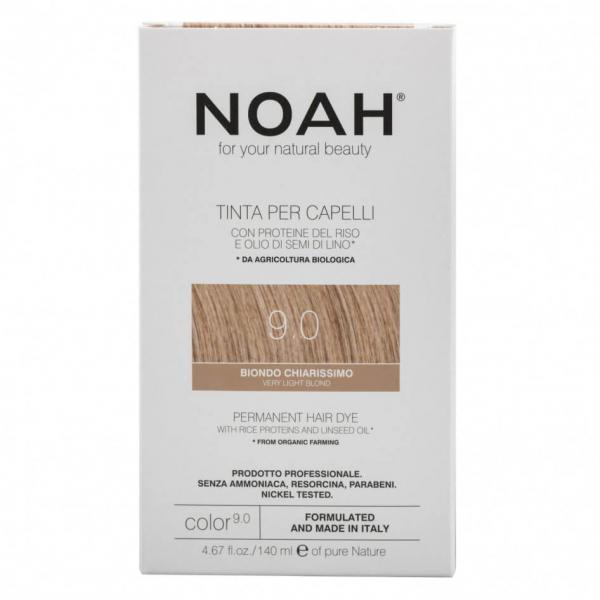 Vopsea de par naturala Blond foarte deschis 9.0 Noah 140 ml 0