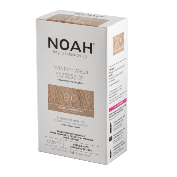 Vopsea de par naturala Blond foarte deschis 9.0 Noah 140 ml 2