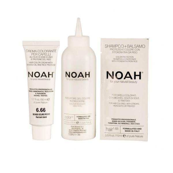 Vopsea de par naturalaBlond roscat inchis 6.66 Noah 140 ml [1]