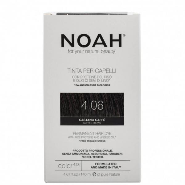 Vopsea de par naturalaSaten cafeniu4.06 Noah 140 ml 0