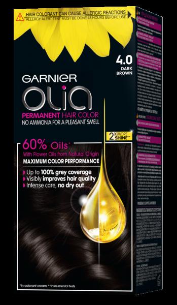 Vopsea de par semi permanenta Garnier Olia, fara amoniac 0