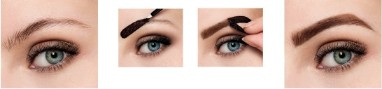 Vopsea gel semipermanenta pentru sprancene Maybelline Brow Tattoo, Dark Brown 3