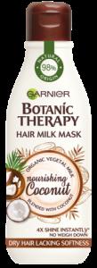 SET 1+1 GRATUIT Masca hranitoare pentru par uscat lipsit de suplete, Garneir Milk Mask Coconut cu textura lejera de lapte , 250ml
