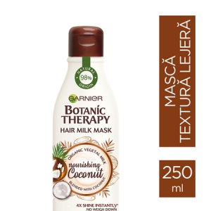 Pachet 2x Masca hranitoare pentru par uscat lipsit de suplete, Milk Mask Coconut cu textura lejera de lapte , 250ml1