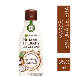 Masca hranitoare pentru par uscat lipsit de suplete, Garneir Milk Mask Coconut cu textura lejera de lapte , 250ml1