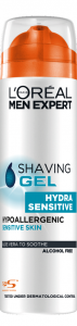 Gel de ras L`Oreal Men Expert  Hydra Sensitive, 200 ml