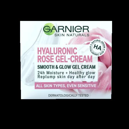 Gel-crema Hyaluronic Rose pentru netezire si iluminare, Skin Naturals 50 ml