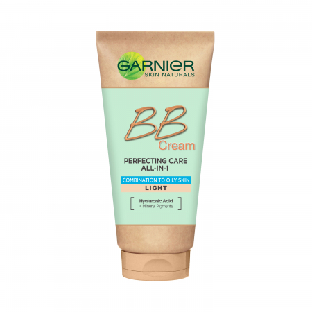 Crema BB multifunctionala Garnier, pentru ten mixt si gras Skin Naturals, nuanta deschisa, 50 ml