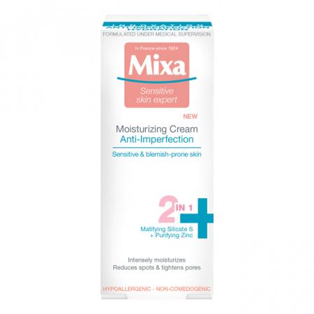 Crema hidratanta Mixa 2 in 1 Anti-Imperfectiuni, 50 ml