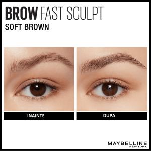 Mascara gel pentru sprancene Brow Fast Sculpt 04, Medium Brown - 2.8ml4