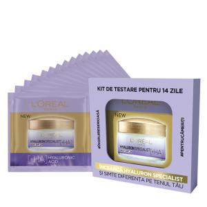 Kit de testare pentru 14 zile Hyaluron Specialist: crema de zi antirid hidratanta pentru volumul tenului, 14 x 3ml [1]