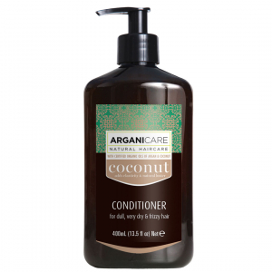 Balsam pentru par fara stralucire ultra-hranitor cu ulei de cocos Arganicare, foarte uscat si frizzy 400 ml