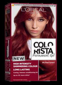 Colorista Vopsea gel permanenta 204 ml, nuanta  CHERRY RED [0]