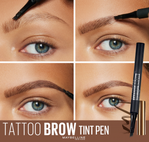 Creion de sprancene cu varf tip carioca Brow Tattoo Micro Pen Tint,130 Deep Brown4