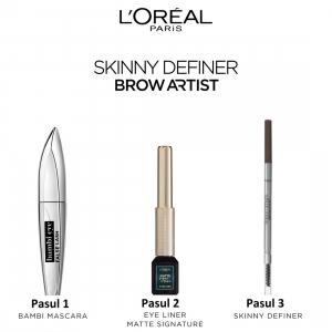 Creion pentru definirea sprancenelor L`Oreal Paris Skinny Definer 105 Brunette [6]