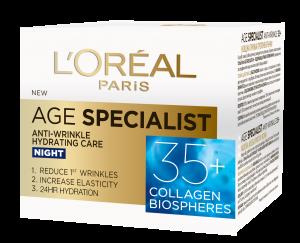 Crema antirid de noapte L`Oreal Paris Age Specialist 35+, 50ml