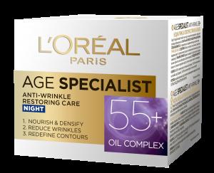 Crema antirid de noapte L`Oreal Paris Age Specialist 55+