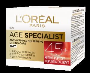 Crema antirid de zi L`Oreal Paris Age Specialist 45+, 50 ml