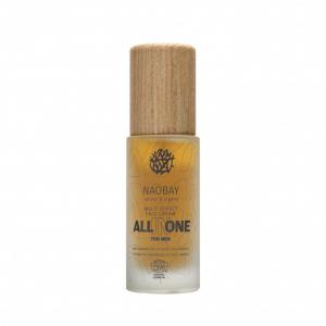 Crema de fata pentru barbati BIO hidratanta si antioxidanta cu acid hialuronic All In One Naobay 50 ml0
