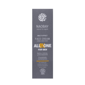 Crema de fata pentru barbati BIO hidratanta si antioxidanta cu acid hialuronic All In One Naobay 50 ml [2]