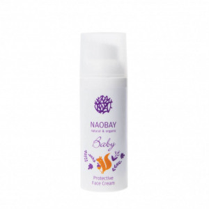 Crema de fata protectoare BIO pentru copii cu extracte organice de galbenele si musetel Naobay 100 ml0