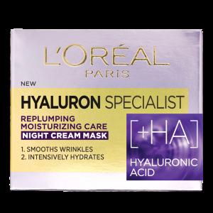 SET 1+1 GRATUIT Crema de noapte antirid hidratanta, L`Oreal Paris Hyaluron Specialist, pentru volumul tenului1