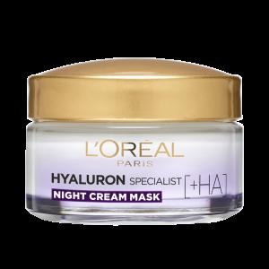 SET 1+1 GRATUIT Crema de noapte antirid hidratanta, L`Oreal Paris Hyaluron Specialist, pentru volumul tenului2