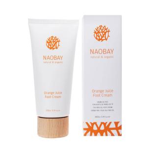 Crema hidratanta BIO pentru picioare cu extracte de unt de Shea si portocale Orange Juice Naobay 100 ml [2]