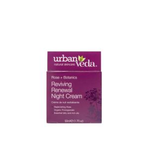 Crema regeneranta de noapte cu ulei organic de trandafir de Damasc   ten matur Reviving   Urban Veda 50 ml2