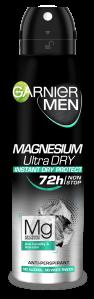 Deodorant Garnier Magnesium Ultra Dry spray pentru barbati, 150 ml