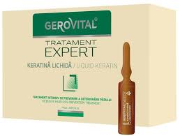 Fiole keratina lichida Gerovital Tratament Expert, 10 buc x 10 ml [0]
