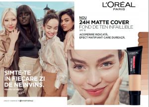 Fond de ten matifiant Infaillible L`Oreal Paris 24H Matte Cover7