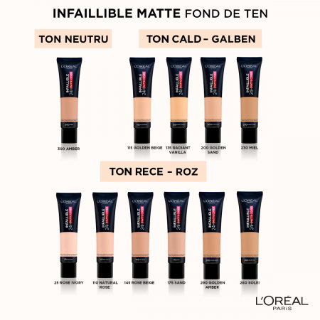 Fond de ten L'Oreal Paris Infaillible 24H Matte [10]