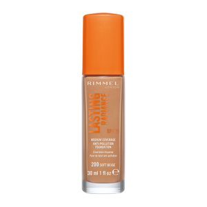 Fond de ten Rimmel Lasting Radiance, 200 Soft Beige, 30 ml0