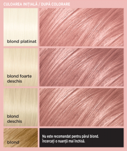 Colorista Vopsea gel permanenta 204 ml, nuanta ROSE GOLD5