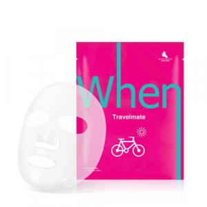 Masca coreeana faciala servetel din bioceluloza WHEN, cu mustel, pentru ten uscat 23ml0