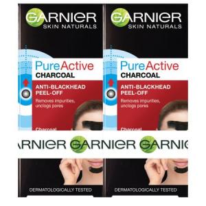 Pachet 2x Masca de fata peel off  Garnier Pure Activ, anti puncte negre cu carbune 50ml0