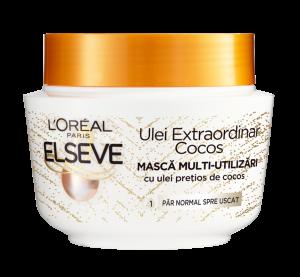 Masca pentru par normal spre uscat Elseve Ulei Extraordinar cu Ulei pretios de Cocos - 300 ml